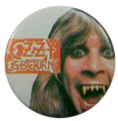Ozzy Osbourne - 'Ozzy Teeth' Button Badge